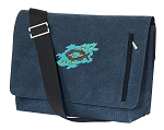 Christian Messenger Bags STYLISH WASHED COTTON CANVAS Blue