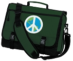 Peace Sign Messenger Bag Green