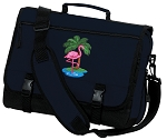 Flamingo Messenger Bag Navy