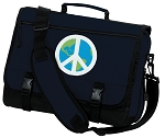 Peace Sign Messenger Bag Navy