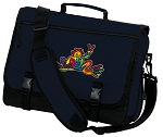 Peace Frogs Messenger Bag Navy