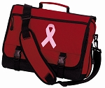 Pink Ribbon Messenger Bag Red