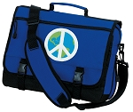 Peace Sign Messenger Bag Royal