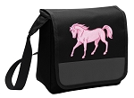 Cute Horse Lunch Bag Cooler Black