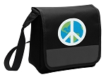 Peace Sign Lunch Bag Cooler Black