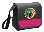 Soccer Lunch Bag Cooler Pink