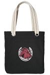 Horse Tote Bag RICH COTTON CANVAS Black