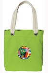 Soccer Tote Bag RICH COTTON CANVAS Green