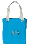 BLUE CRAB Tote Bag RICH COTTON CANVAS Turquoise