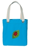 Ladybug Tote Bag RICH COTTON CANVAS Turquoise