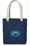 BLUE CRAB Tote Bag RICH COTTON CANVAS Navy