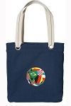 Soccer Tote Bag RICH COTTON CANVAS Navy