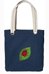 Ladybug Tote Bag RICH COTTON CANVAS Navy
