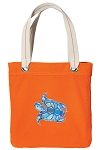 Turtle Tote Bag RICH COTTON CANVAS Orange