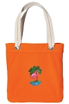 Flamingo Tote Bag RICH COTTON CANVAS Orange