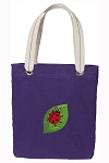 Ladybug Tote Bag RICH COTTON CANVAS Purple
