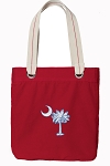 South Carolina Tote Bag RICH COTTON CANVAS Red