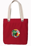 Soccer Tote Bag RICH COTTON CANVAS Red