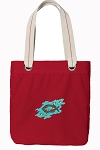 Christian Tote Bag RICH COTTON CANVAS Red