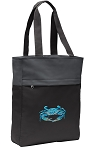 BLUE CRAB Tote Bag Everyday Carryall Black