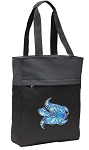 Turtle Tote Bag Everyday Carryall Black