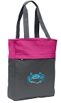 BLUE CRAB Tote Bag Everyday Carryall Pink
