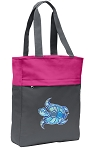 Turtle Tote Bag Everyday Carryall Pink