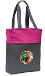 Soccer Tote Bag Everyday Carryall Pink