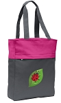 Ladybug Tote Bag Everyday Carryall Pink