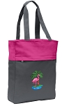 Flamingo Tote Bag Everyday Carryall Pink