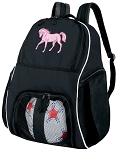 Pink Horse Soccer Backpack