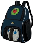 Ladybug SOCCER Backpack or VOLLEYBALL Bag