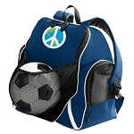Peace Sign Soccer Ball Backpack