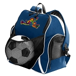Peace Frogs Soccer Ball Backpack