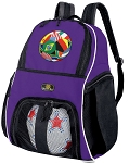 World Cup Soccer Ball Flag Flags Football Futball Ball Backpack Purple