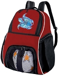 Turtle Soccer Ball Backpack Bag Red