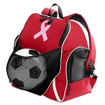 Pink Ribbon Ball Backpack