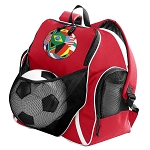 World Cup Soccer Ball Backpack Red
