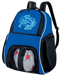 DOLPHINS Ball Backpack Bag Royal