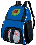 Ladybugs Ball Backpack Bag Royal