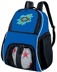Christian Soccer Backpack or Christian Theme Volleyball Practice Bag Boys or Girls Blue