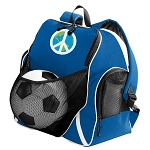 Peace Sign Soccer Backpack