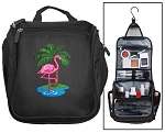 Flamingo Cosmetic Bag or Shaving Kit Travel Bag