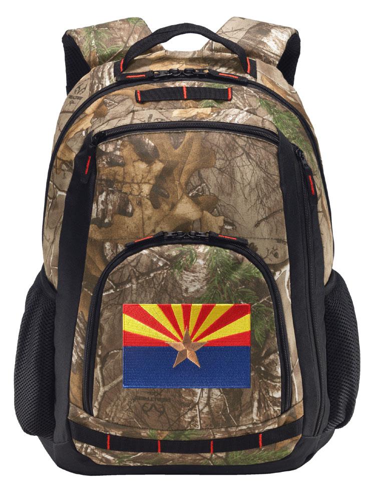 Laptop Section! Arizona Flag Camo Backpack REALTREE Arizona Backpacks