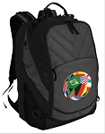 Soccer Deluxe Laptop Backpack Black