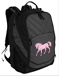 Cute Horse Deluxe Laptop Backpack Black