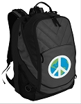 Peace Sign Deluxe Laptop Backpack Black
