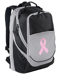 Pink Ribbon Laptop Backpack