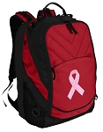 Pink Ribbon Laptop Computer Backpack