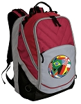 Soccer Deluxe Laptop Backpack Red